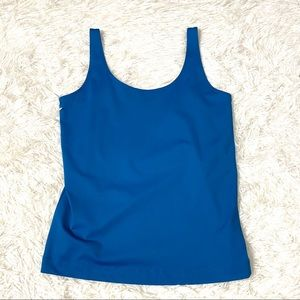 Chico's Cool Cami Deep Water Blue Tank Top